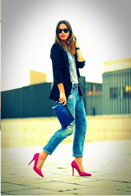 look trabalho com sapato pink