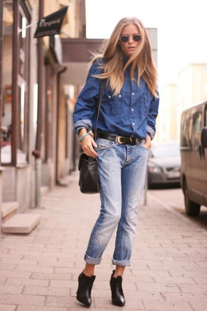 jeans total no look trabalho