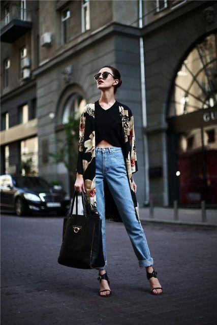 calça cintura alta com cropped
