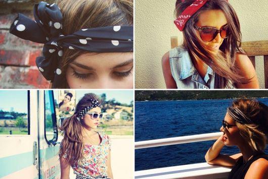 exemplo de como usar lenço na cabeça nós simples