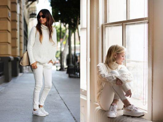 look branco para a moda inverno