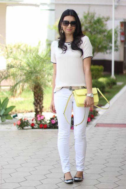 look branco com jeans branco