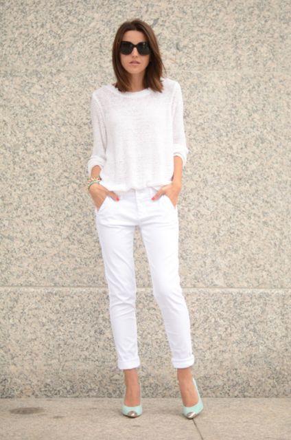 look branco basico para trabalho