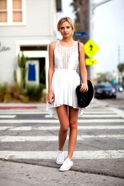 vestido branco de renda transparente