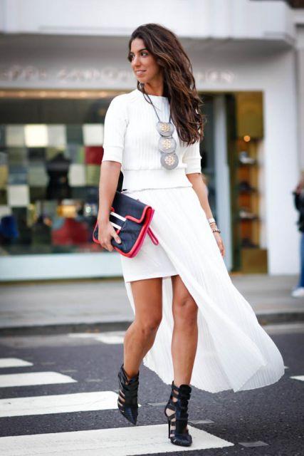 ideias para look branco fashion