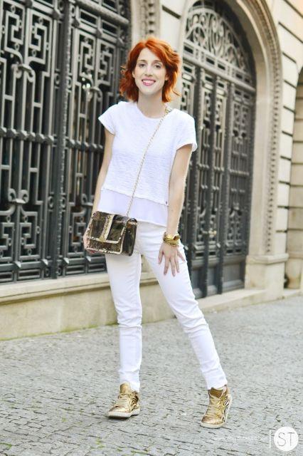 como montar look branco total simples