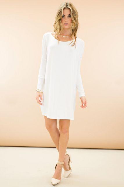 ideias para look branco simples