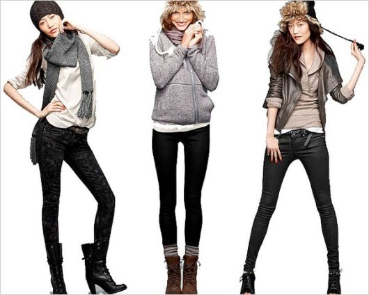 ideias para look casual inverno com legging preta