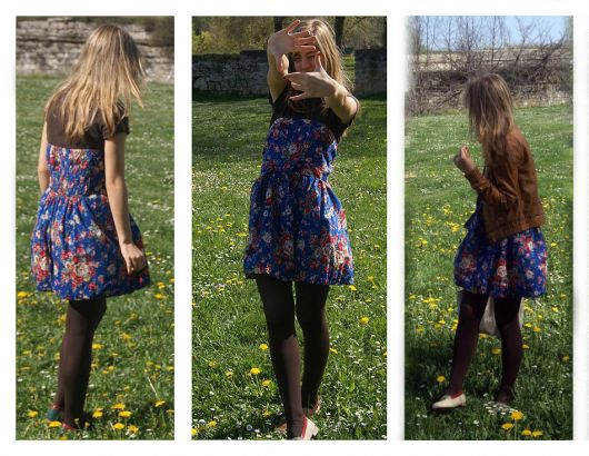 look fashion com vestido floral