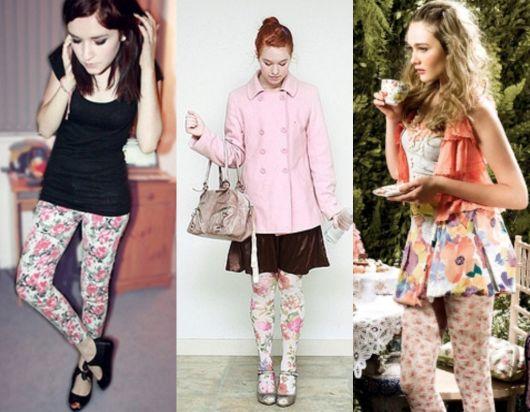 como usar calça legging floral