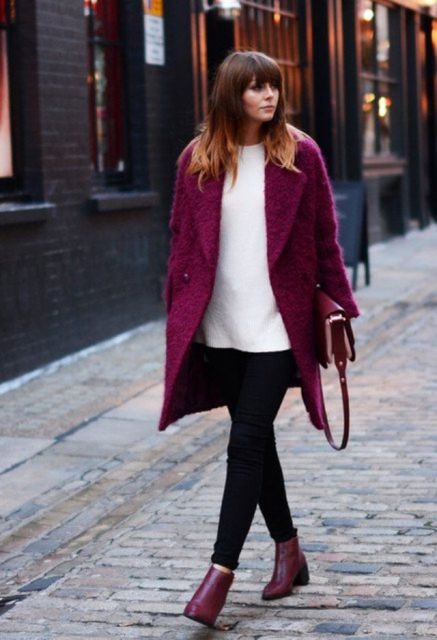casaco vinho na moda inverno