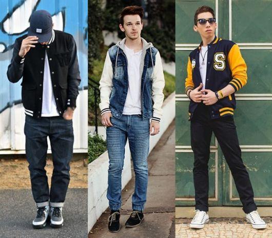 jaqueta college com jeans no dia a dia