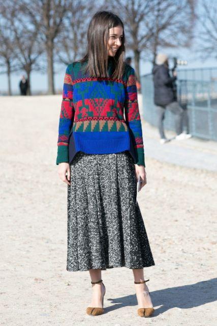 estampa etnica na moda inverno