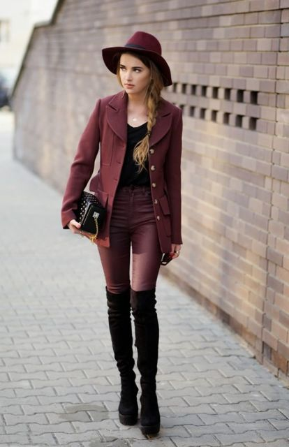 Maroon Jeans For Men