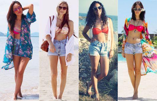 usar jeans na praia de dia
