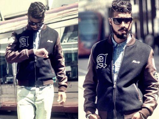 jaqueta college masculina para look dia