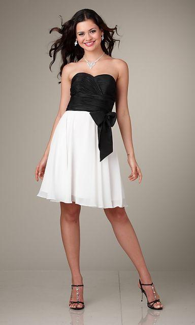 vestido para casamento preto e branco convidada