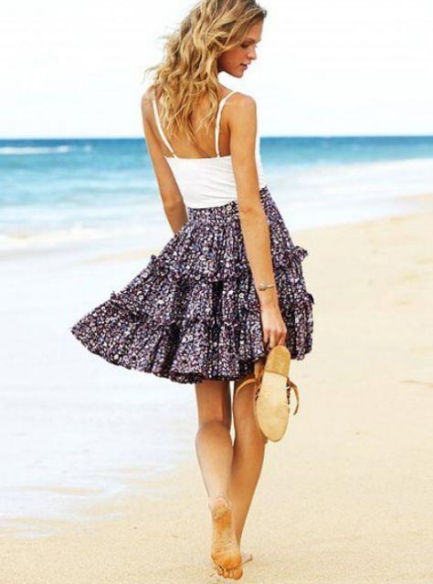 look casual para a praia de dia