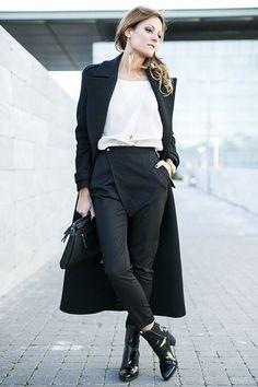 look preto e branco para usar de dia