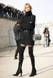 look com vestido preto total