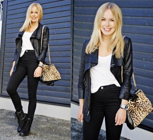 calça jeans cintura alta com coturno preto