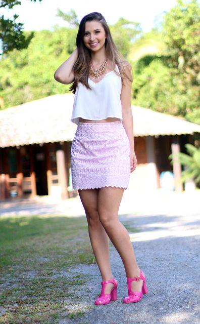 look dia com sandalia pink