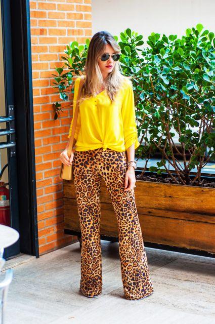 pantalona animal print de onça
