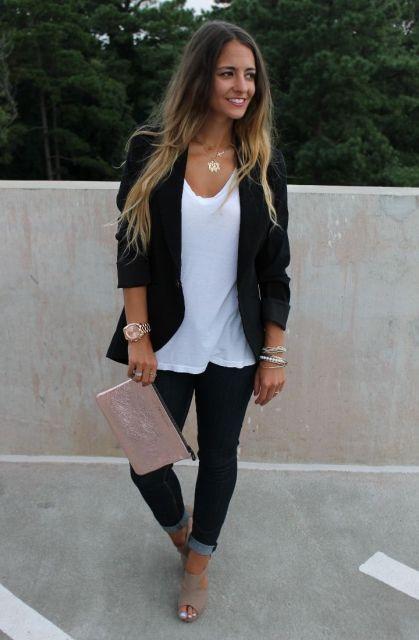 look preto e branco simples para o trabalho