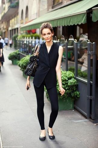 usar preto com legging e sapatilha