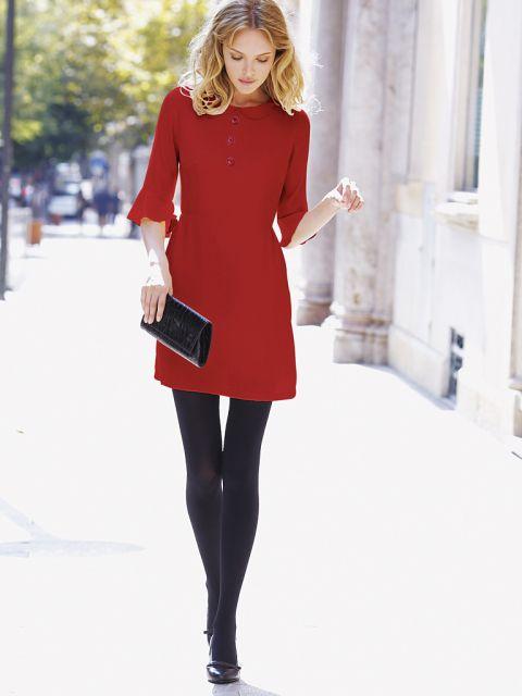 vestido vermelho casual chique