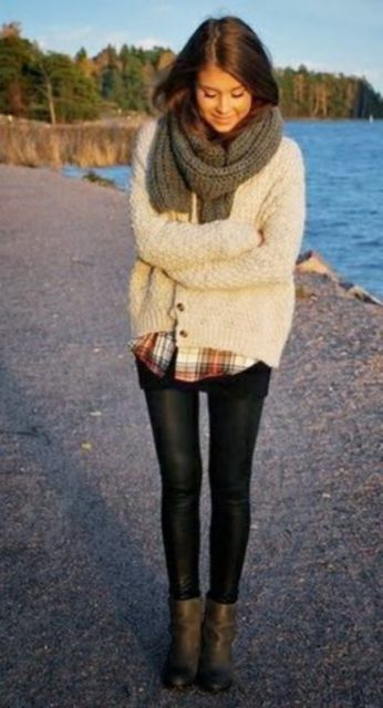 ideias para usar legging no inverno em look casual