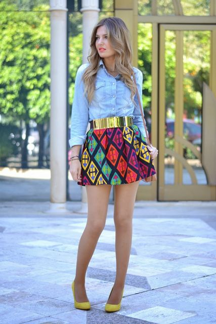 look simples com mini saia