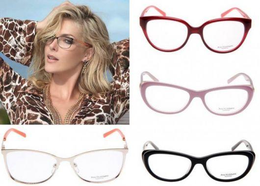 Modelos coloridos de óculos Ana Hickman