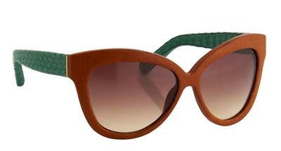 Óculos de sol marrom e verde