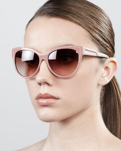 Óculos rosa e marrom