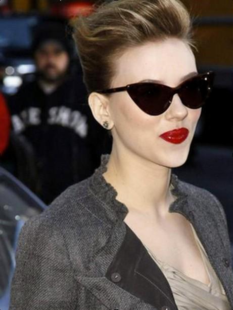Scarlett de óculos gatinho
