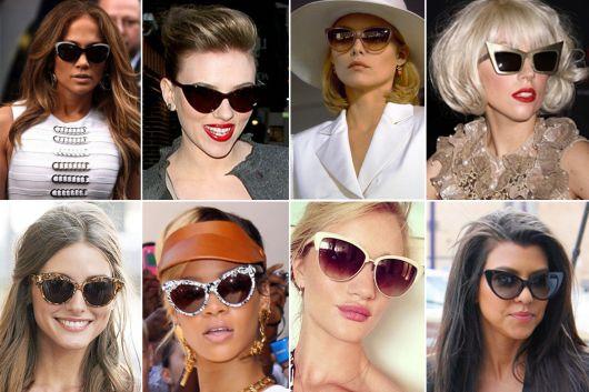 Famosas de óculos gatinho de sol