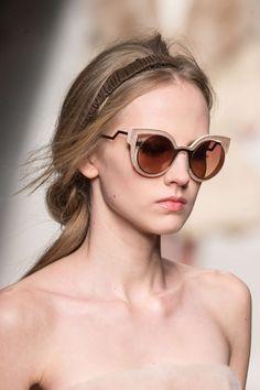 Óculos marrom e bege gatinho fashion