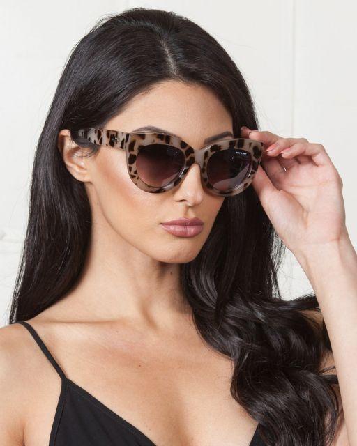 Óculos gatinho modelo grande estampado