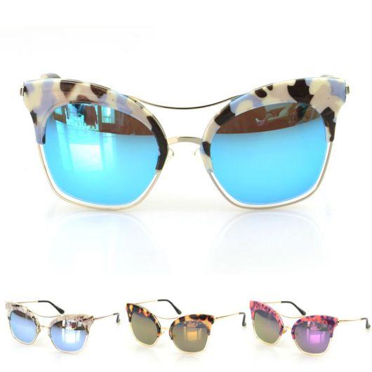 óculos espelhado: 3 cores diferentes