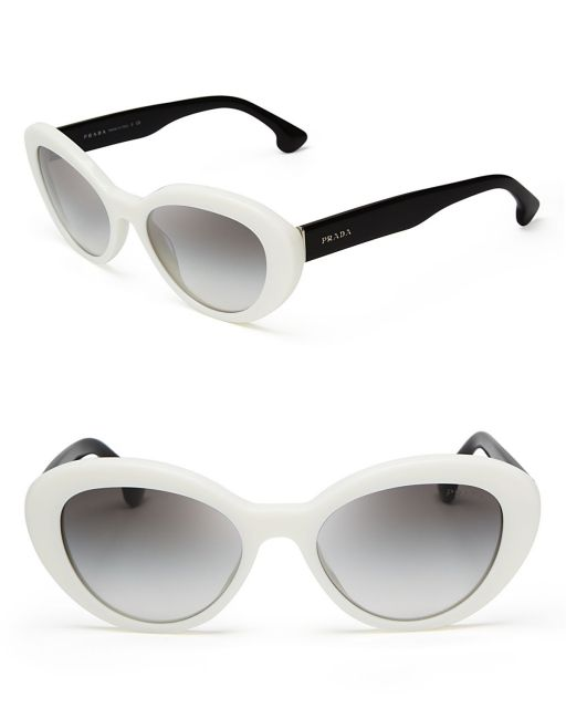 Óculos gatinho espelhado branco