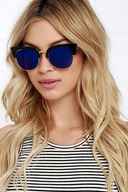 Óculos espelhado azul