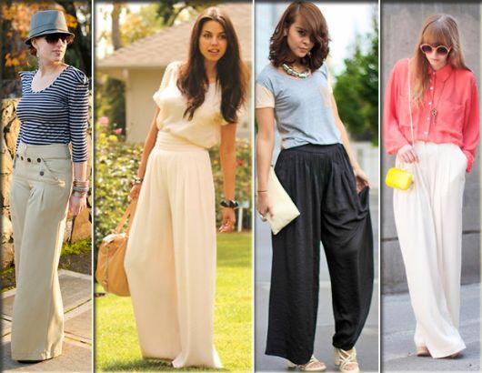 Pantalonas com blusa larga e presana cintura