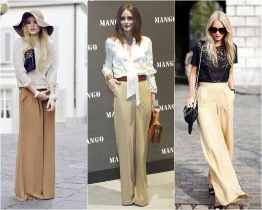 Pantalonas de linho em cores neutras