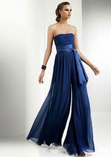 Linda Pantalona azul para festa