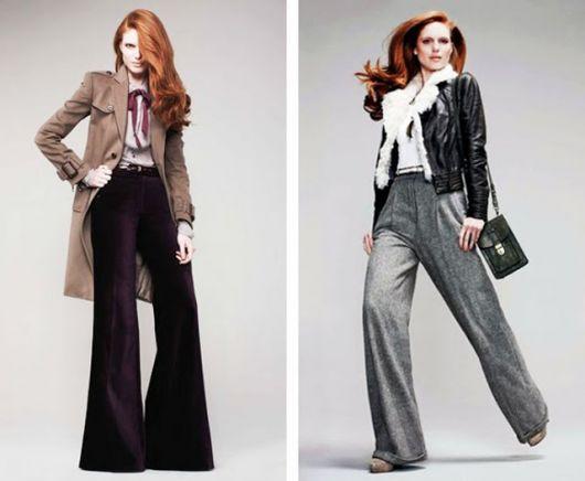Pantalonas de cor escura para alongar a silhueta