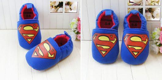 exemplo de pantufas femininas geek superman