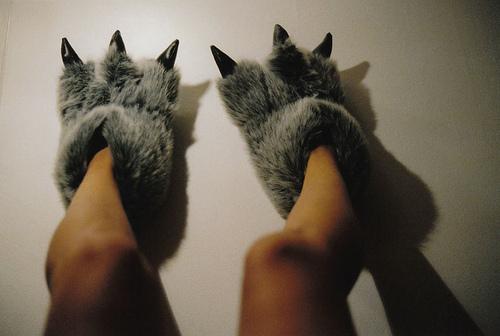 exemplo de pantufas femininas engraçadas pé de monstro