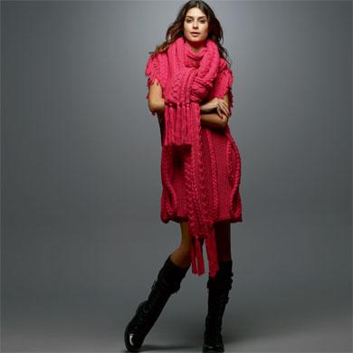 vestido de lã com polaina