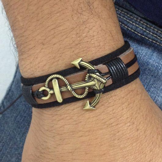 pulseira âncora para homens